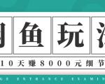 龟课·闲鱼项目玩法实战班第12期,操作10天左右利润有8000元细节玩法