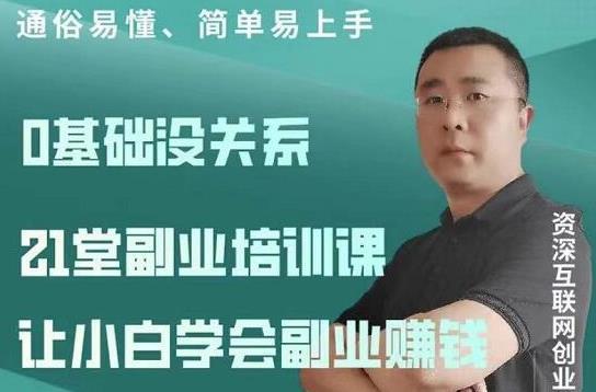 张磊21堂副业培训课:让小白学会副业赚钱,一套拿走就能用的副业赚钱指南